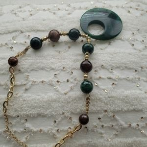VINTAGE emerald green necklace CHICO'S STY…
